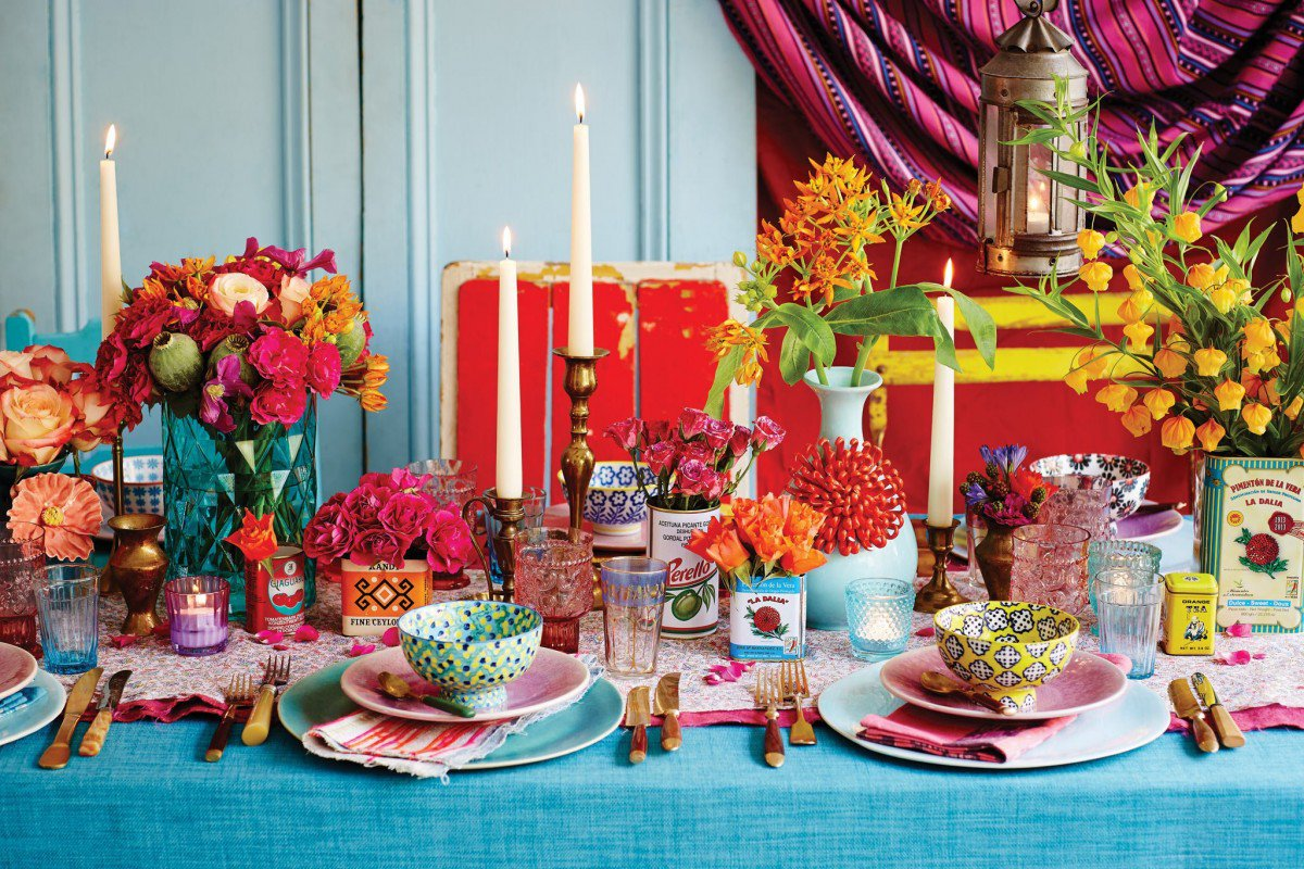 boho-wedding-theme-colorful-tableware