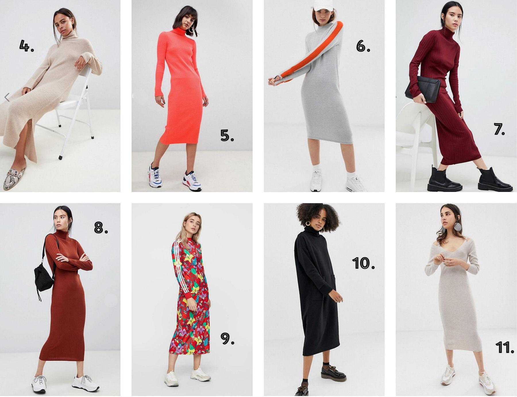 044423ee Høyhalset kjole i superfresh farge HER // 6. Midi-dress med oransje stripe  på ermene HER // 7. Burgunderfarget kjole HER // 8. Rustfarget kjole HER  (denne ...